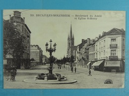Bruxelles Molenbeek Boulevard Du Jubilé Et Eglise St-Remy - St-Jans-Molenbeek - Molenbeek-St-Jean
