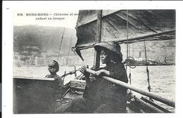 CHINA - Hong Kong (1903) Carte Messageries Maritimes - CHINOISE Et Son Enfant - CHINESE And Her Child En Jonque - Cina (Hong Kong)