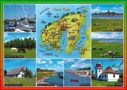 1 Map Of Germany * 1 Ansichtskarte Mit Der Landkarte - Ostseeinsel Poel Mit Seiner Schönen Umgebung * - Landkarten