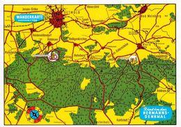 1 Map Of Germany * 1 Ansichtskarte Mit Der Landkarte - Wanderkarte Rund Um Das Hermannsdenkmal * - Landkarten