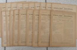 Lot De 18 Revues Pédagogiques The English Journal. N° 1 à 18. 1913-1914. Journal Anglais Pour Les Jeunes Français - Pédagogie