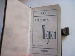 AGENDA  MIGNON 1940 - Calendriers
