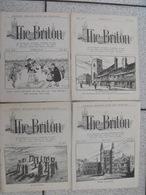 Lot De 4 Revues Pédagogiques The Briton. N° 1,10,11,25. 1922-1923. Journal Anglais Pour Les Français - Pédagogie