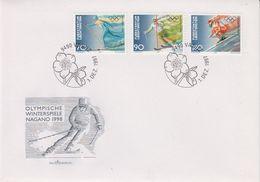 Liechtenstein 1997 Olympic Wintergames Nagano 3v FDC (43867) - FDC