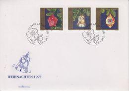 Liechtenstein 1997 Christmas / Weihnachten 3v FDC (43868) - FDC
