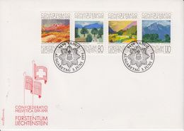 Liechtenstein 1991 Conferatio Helvetica 4v FDC (43869) - FDC