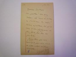 2019 - 2006  RARE Carte Signée André  GIDE Adressée à Joseph DELTEIL  1923  XX - Autographes
