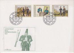 Liechtenstein 1991 Letzter Einsatz Militär Kontingents 3v FDC (43870) - FDC