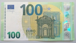 100 EURO S004E4 Italy Serie SB Ch11 Draghi Perfect UNC - 100 Euro