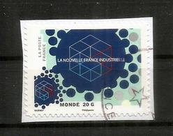 La Nouvelle France Industrielle, Année 2014, Oblitéré, 1 ère Qualité, Sur Fragment Lettre - Frankreich
