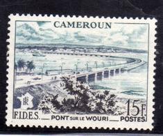CAMEROUN CAMERUN 1956 WOURI BRIDGE 15f MNH - Neufs