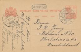 Nederlands Indië - 1926 - 12,5 Cent Wilhelmina, Briefkaart Van LB BATOEDJADJAR - Na Posttijd - Naar Berlin / Deutschland - Netherlands Indies