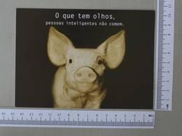 BRAZIL - O QUE TEM OLHOS -  PESSOAS INTELIGENTES NÃO COMEM -   2 SCANS    - (Nº30046) - Belo Horizonte