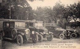 83 LA SEYNE SUR MER QUARTIER BALAGUIER RESTAURANT DU PERE LOUIS LE GARAGE VIEILLES AUTOMOBILES CLICHE UNIQUE - La Seyne-sur-Mer
