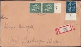 Germany - Registered Cover (MiNr. 688 + 668) Einschreiben Brief, CELLE 14.3.1944 - Bad Säckingen. - Lettres & Documents
