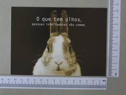 BRAZIL - O QUE TEM OLHOS -  PESSOAS INTELIGENTES NÃO COMEM -   2 SCANS    - (Nº30049) - Belo Horizonte