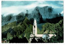 La Réunion - Eglise De Cilaos, Au Second Plan Le Grand Bénare - Circ Sans Date, Sous Enveloppe - La Réunion