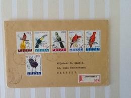 Enveloppe Nr.1216/1221 Zoo Van Antwerpen. Aangetekende Zending Van Antwerpen Naar Hasselt 26-6-62. - Belgique