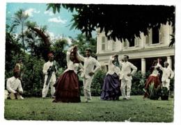 Folklore Réunionnais - Séga Créole (Danseurs En Couple, Musiciens) Circulé Sans Date, Sous Enveloppe - La Réunion