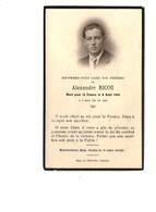 Souvenez Vous Dans Vos Prieres Alexandre Ricou Mort Pour La France Le 9 Aout 1944 à L' Age De 19 Ans Militaire Guerre - Images Religieuses