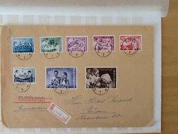 Nr.1139/1146 Onafhankelijkheid Van Congo. Aangetekende Zending Van Eupen Naar Eupen 19-12-60. - Belgique