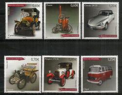 ANDORRE.séries Des Voitures .6 T-p Neufs ** (Peugeot 1925,Citroën DS21,Renault,Ford T,Pinette 1898,Cartercar,Bus Clipol) - Andorra Francese