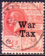 BRITISH GUIANA 1918 SG #271 2c Used Optd WAR TAX - British Guiana (...-1966)