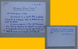 Georges Vernade, Oeuvre D'Orient, Carte Autographe à Mgr Le Cordier Ref 363 ; PAP04 - Autógrafos