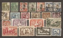 Indochine 1904/45 - Petit Lot De 21 Timbres° - Vrac (max 999 Timbres)