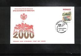 Monaco 2000 Car Races  Interesting Cover FDC - Automobile