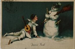 Illustrator? PIERROT - Clown With Snowman 1933 - Illustratoren & Fotografen
