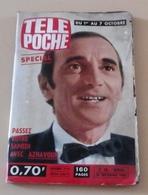 Télé Poche N°38 Septembre 1966 Charles Aznavour, Georges Brassens, Georges Guétary,Caméra Invisible - Fernsehen