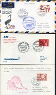 1970/71 Denmark 3 X JAL SAS Lufthansa First Flight Covers - Osaka Tokyo Japan. Slania - Airmail