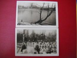 Poniewiez ,lituanie . 2 Cartes . Flub Niewiaza Et Ehrenfriedhof . 3 Photos . - Litauen