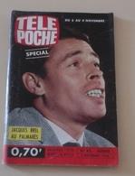 Télé Poche N°43 Novembre 1966 Jacques BREL Annonce Son Départ Sylvie Vartan Johnny Hallyday,Eddy Mitchell,Polnareff - Fernsehen
