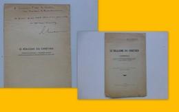 Guerre 39-45, Le Réalisme Du Chrétien, Mgr Chevrot, 1943 (sur La Collaboration), Dédicacé  Ref 364 ; L01 - Livres, BD, Revues
