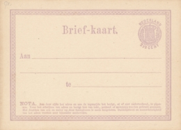 Nederland - 1871 - 2,5 Cent Wapen, Briefkaart G1 - Ongebruikt - Postal Stationery