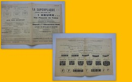 Automobile 1037, Plaque Minéralogique Superplaque (obligation 1936) ; PAP04 - Publicités