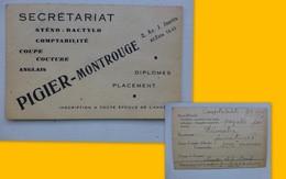 Secrétariat Pigier-Montrouge, Carte Pub Vers 1920 ; PAP04 - Werbung