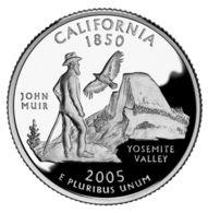 USA. 25 Cents. Quarter. States Of The USA. California. UNC. 2005 D - 1999-2009: State Quarters