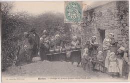 Bv - Belle Cpa REDON - Groupe De Potiers Faisant Sécher Leurs Pots - Redon