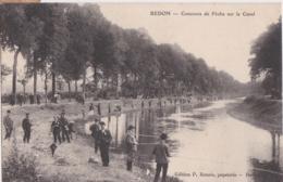 Bv - Cpa REDON - Concours De Pêche Sur Le Canal - Redon