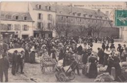 Bv - Cpa QUIMPER - La Place Saint Mathieu - La Caserne - Le Marché Aux Pommes De Terre - Quimper