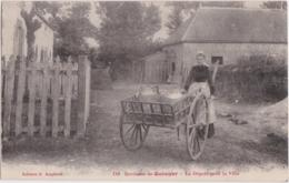 Bv - Cpa Environs De QUIMPER - Le Départ Pour La Ville (Laitière) - Quimper