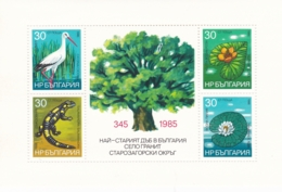 Bulgarien, 1986 , 3493/96 Block 167 A, MNH **,  Natur- Und Umweltschutz. - Blocchi & Foglietti