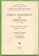 Torres Novas - Carta Geológica De Portugal + Mapa. Santarém - Geographical Maps