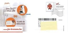 """Carte Publicité - PP Gent - Sigle De """"timbre"""" Oblitéré - Bélgica"""