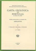 Abrantes - Carta Geológica De Portugal + Mapa. Santarém - Geographical Maps