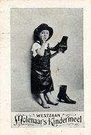 Early Advertisement Card,  Choosing Shoes, Westzaan, Molenaars Kindermeel - Reclame