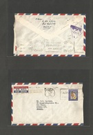 KUWAIT. 1967 (13 Sept) GPO - Greece, Athens (14 Nov) Air Franked Envelope. Special Censor Depart Cachet (reverse) Applie - Koweït